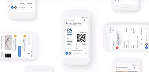 Smartphones mit Anwendungen wie Ticketversand und Chat