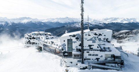 5G Antenne auf dem Crap Sogn Gion in Laax