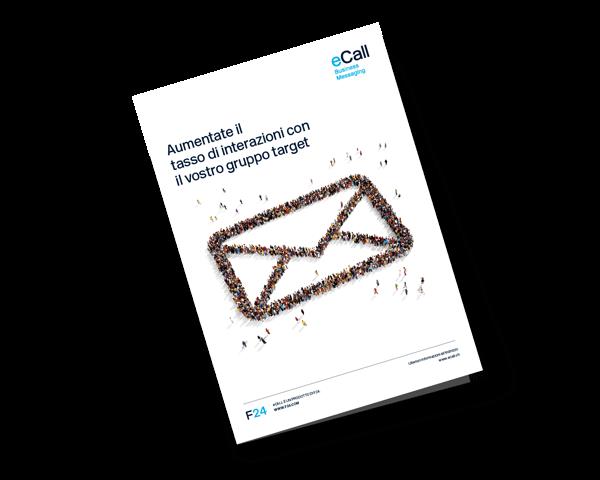 Anteprima della brochure eCall: Aumentate il tasso di interazioni con il vostro gruppo target (Keyfacts sull' SMS marketing)