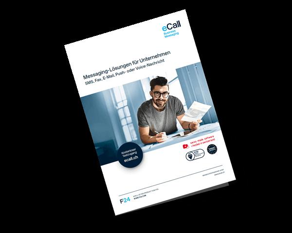 eCall Vorschau Flyer: Messaging-Lösungen für Unternehmen (Produktbroschüre)