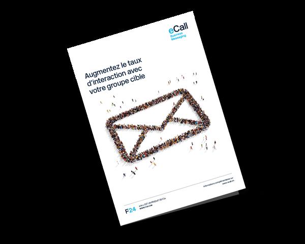 Aperçu de la brochure d'eCall: Augmentez le taux d'interaction avec votre groupe cible (savoir plus sur marketing par SMS)