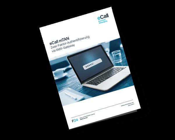 eCall Vorschau Flyer: mTAN (Zwei-Faktor-Authentifizierung via SMS-Gateway)