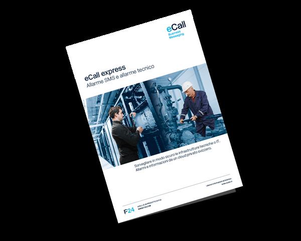 Anteprima della brochure eCall: eCall express – Allarme SMS e alarme tecnico