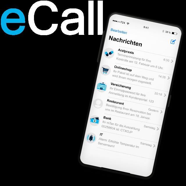 eCall - Der Schweizer Kommunikationsservice für Unternehmen. Zuverlässig, schnell und einfach SMS-, Fax- und Sprachnachrichten versenden.