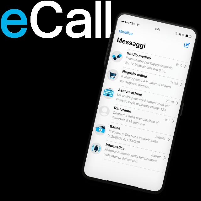 eCall - Il servizio di comunicazione svizzero per le aziende. Inviare SMS, fax e messaggi vocali in modo affidabile, rapido e semplice.