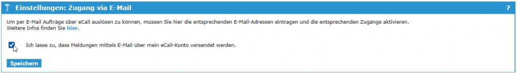 eCall E-Mail Schnittstelle – E-Mail versenden via eCall Portal
