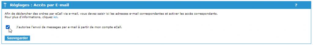 Interface de courrier électronique eCall – envoyer un courrier électronique via le portail eCall