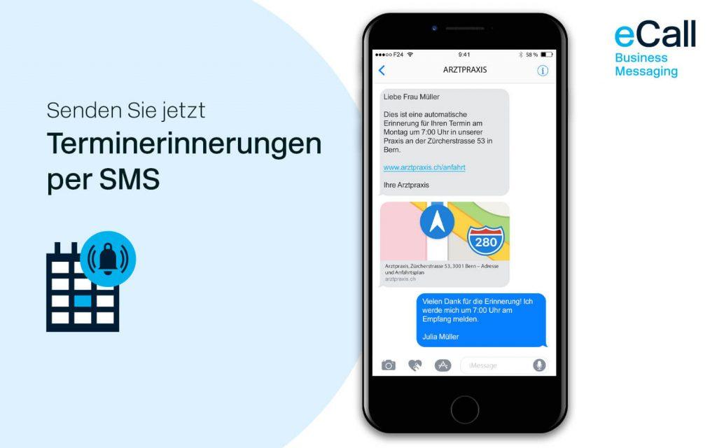 eCall und bexio: Terminerinnerungen per SMS