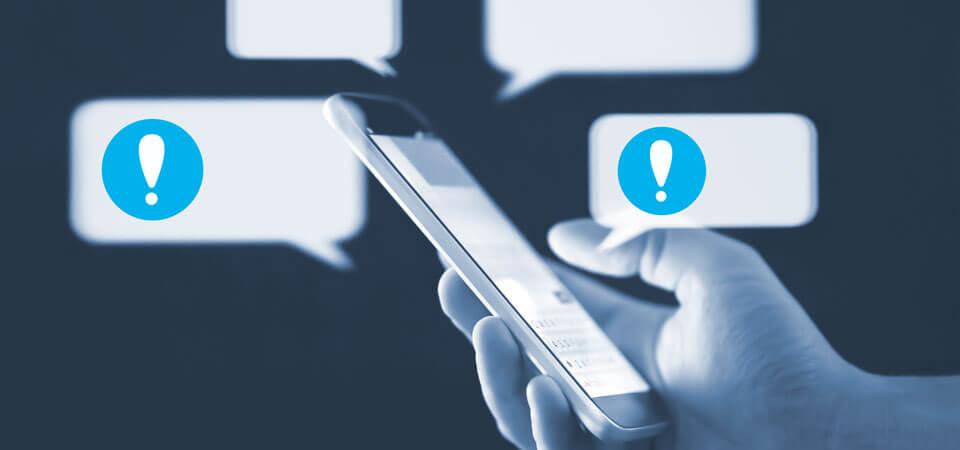 Flash-SMS mit eCall Business Messaging versenden