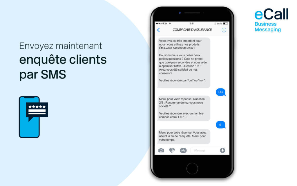 eCall et bexio : des enquêtes clients par SMS