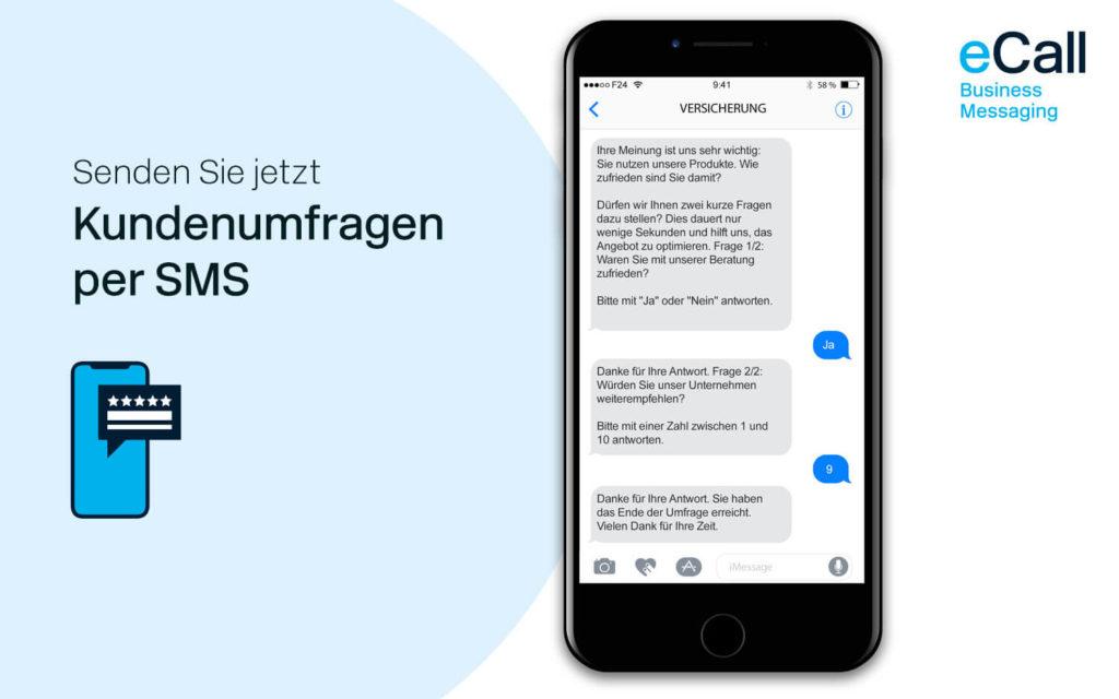 eCall und bexio: Kundenumfragen per SMS