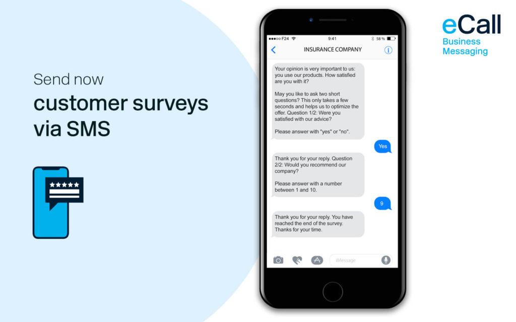 eCall and bexio: customer surveys via SMS