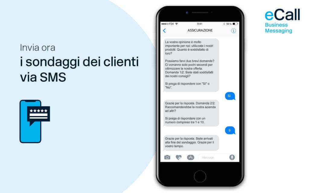 eCall e bexio: sondaggi dei clienti via SMS