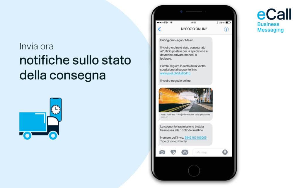eCall e bexio: notifiche sullo stato della consegna via SMS